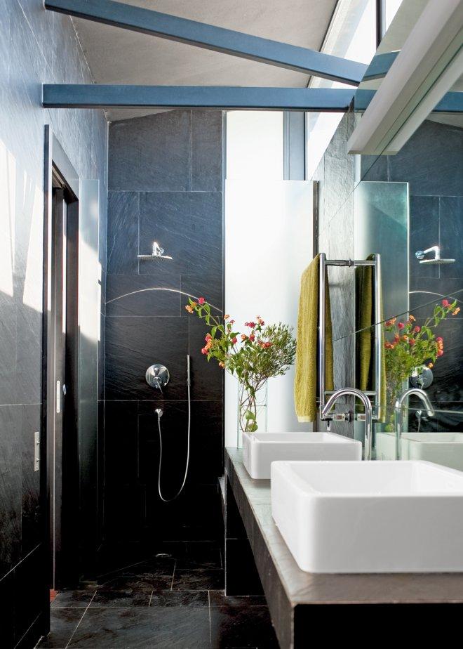 Am nager une minuscule salle de bain just in diary - Salle de bain moderne blanche et grise ...