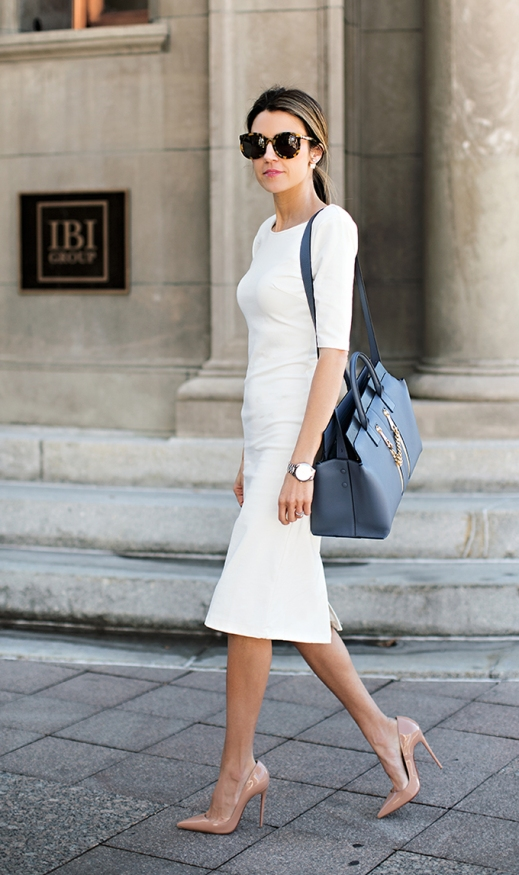 white-pencil-dress